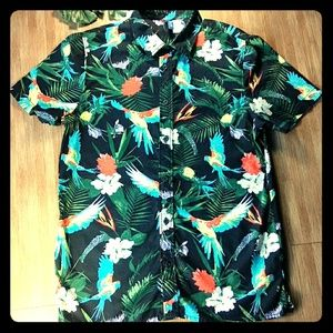 DIVIDED TROPICAL FLORAL SHIRT SIZE SMALL